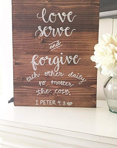 Burkewrusk Wooden Wood Sign Rustic Sign Rustic Home Decor Wooden Sign 1 Peter 48 Sign Scripture Sign Love Sign Marriage Sign Home Decor Farmhouse Sign Family