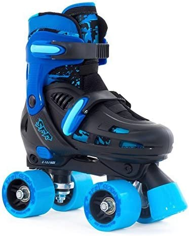 SFR Racing Storm II子供用調節可能Quad Roller Skates – ブラック/ブルー – Small by SFR