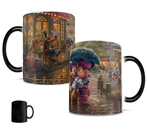 Mickey and Minnie - Thomas Kinkade - Paris France - Morphing Mugs Heat Sensitive Mug - Ceramic Color Changing Heat Reveal Coffee Tea Mug - by Trend Setters Ltd. (Goofy Mug)