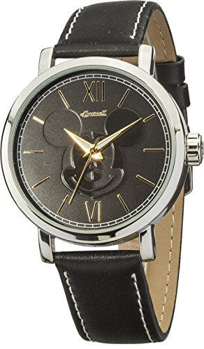 Ingersoll-Disney-Classic-Time-Quartz-Metal-and-Leather-Casual-Watch-ColorBlack-Model-IND-007-SLBK