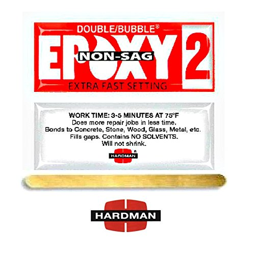 Epoxy 3.5g Double Bubble Packet Includes Ten Packs Hardman 04008 Red 2 Non Sag No Drip Super Fast Set By Midwest Corvette - Epoxy Packet