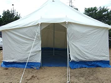 12ft x 12ft Canvas Frame Tent Double Skin Groundsheet 12ft Centre Pole & 12ft x 12ft Canvas Frame Tent Double Skin Groundsheet 12ft ...