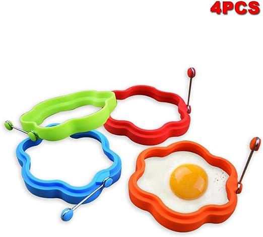 Molde de silicona para huevos fritos, 4 unidades, molde para ...