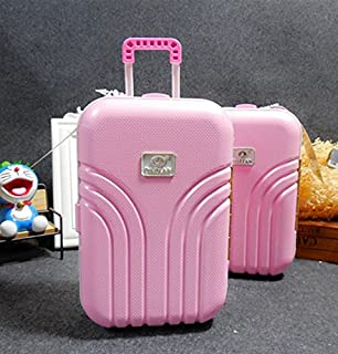 Süß und lustig Trolley Case Sparschwein Koffer Spardose (Pink)