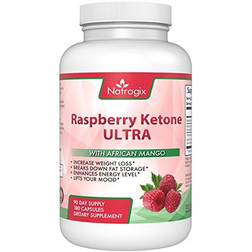 ULTRA Raspberry Ketones & African Mango, Green Tea Formula, Antioxidants Blend for Weight Loss, Break Down Fat Storage, Rev Up Metabolism, Energy Booster, 180 Capsules.