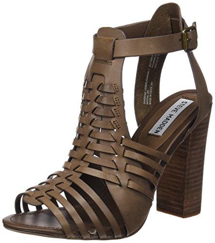 Steve Madden sandrina - Sandalias de vestir para mujer Brown Leather