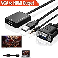 Alfais Al-4674 VGA to HDMI Çevirici Dönüştürücü Adaptör Kablosu