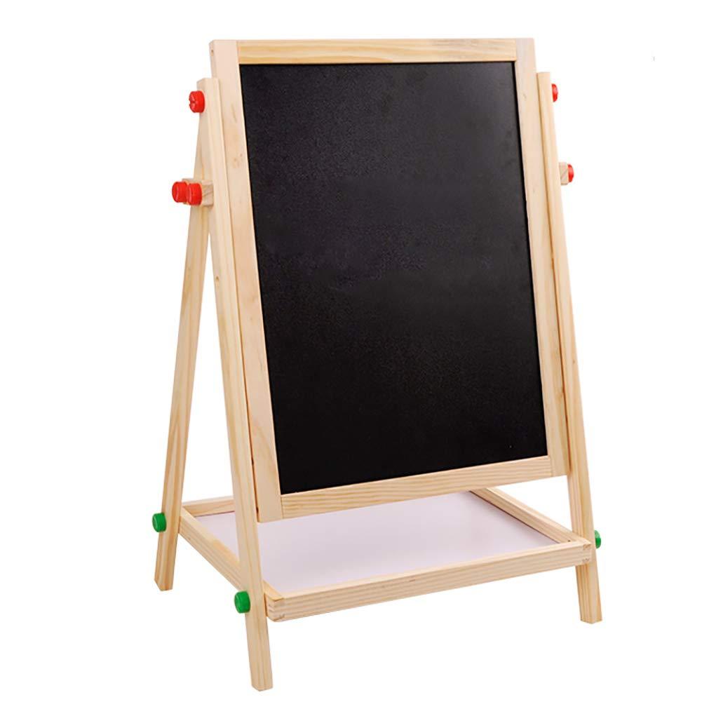 Caballete BSNOWF Tablero Madera Kid Educative Learning Tableros De Escritura De Dibujo En Blanco Y Negro A Doble Cara