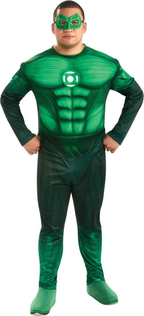 Rubies Mens Green Lantern Movie Hal Jordan Theme Party Fancy Costume, Plus (44-50)