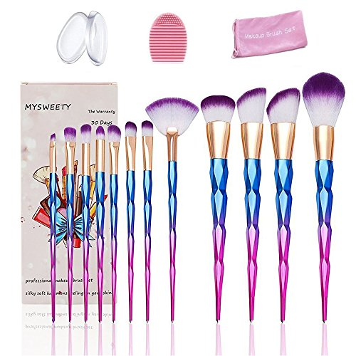 16PCS Makeup Brushes Set, MYSWEETY 12PCS Makeup Foundation E