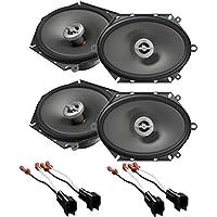 New 2Pairs Infinity PR8602cf 6x 8 5x 7 2-Way Speakers 180W 6 x 8 5 x 7 With Install Speaker Harness
