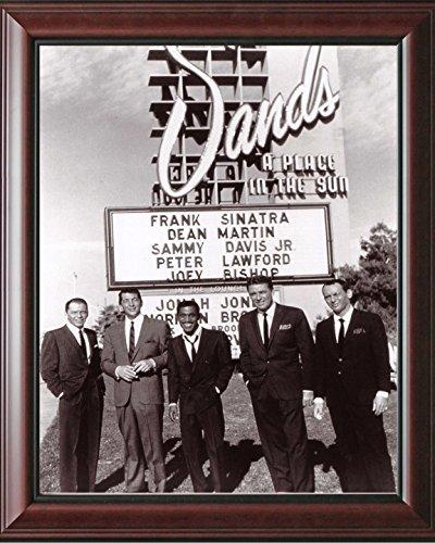 Photo Vegas Las Hotel - The Rat Pack At The Sand Hotel Las Vegas Dean Martin Sammy David Peter Lawford 14 x 17 Large Framed Print Celebrity Photos