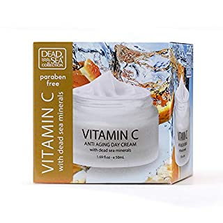 Dead Sea Collection Anti-Aging Day Cream with Dead Sea Natural Minerals infused with Vitamin C 1.69fl.oz