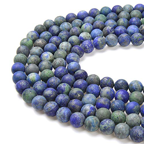PLTbeads Gorgeous Chrysocolla Natural Gemstone Loose Beads 6mm Matte Round Approxi 15.5 inch DIY Bracelet Necklace for Jewelry Making