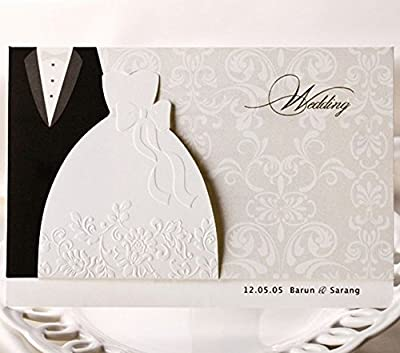 CYNDIE Hot Sale New Wedding Invitation Cards with Envelopes Seals Customer Personalized Printing