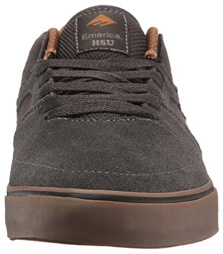 Emerica The HSU Low Vulc, Scarpe da Skateboard Uomo Dark Grey