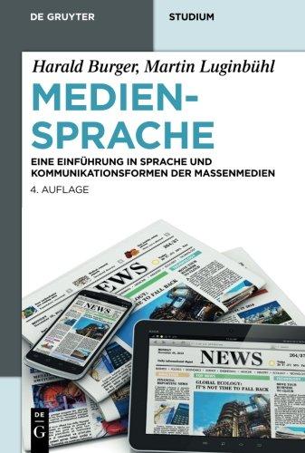 Mediensprache (De Gruyter Studium) (German Edition) by De Gruyter Mouton