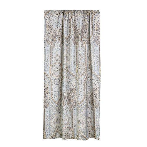 (Levtex Casablanca Grey Drape Panel, Grey,Blue,Brown,)