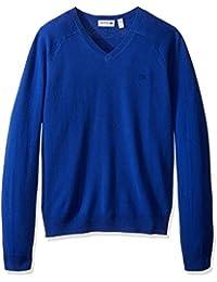Men's Long Sleeve Cashmere V-Neck Sweater