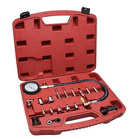 HG® Probador de compresión Motores diesel Probador de compresión Gasolina Diesel compresión medidor Dieselmotor Tester conjunto: Amazon.es: Coche y moto