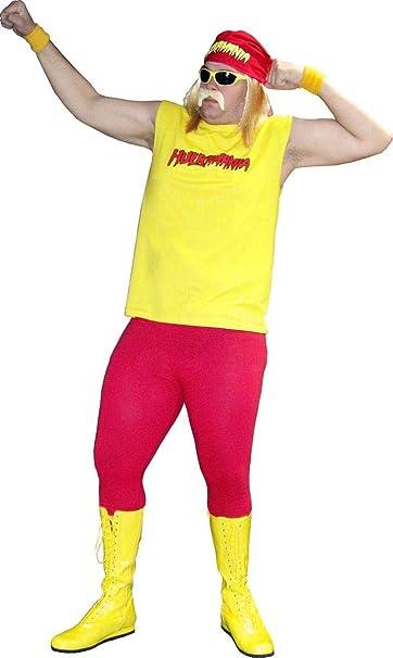 Hulk Hogan Hulkamania Complete Costume Set (Adult X Large, Yellow SunglassesYellow Bandana)