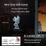 3D Cartoon Minnie Mouse Night Light LED RGB 7 Color