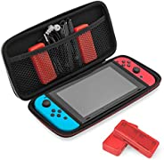 Travel & Storage Case for Nintendo Switch by TalkWorks   Durable Dual Zippers, Carrying Handle, Mesh Side