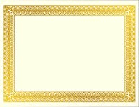 """Geographics Rome Certificates, Gold Foil, 8.5 x 11"""", 15/Pack (47829)"""