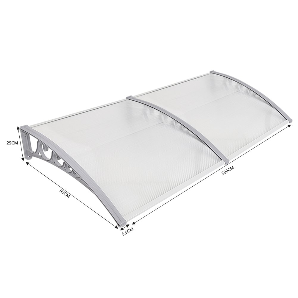 Canopy Outdoor,Window Door Canopy Patio Porch Awning Shelter Cover PC Polycarbonate Sheet 80 x 120
