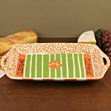NCAA Clemson Tigers Orange-White Ceramic Stadium Tray