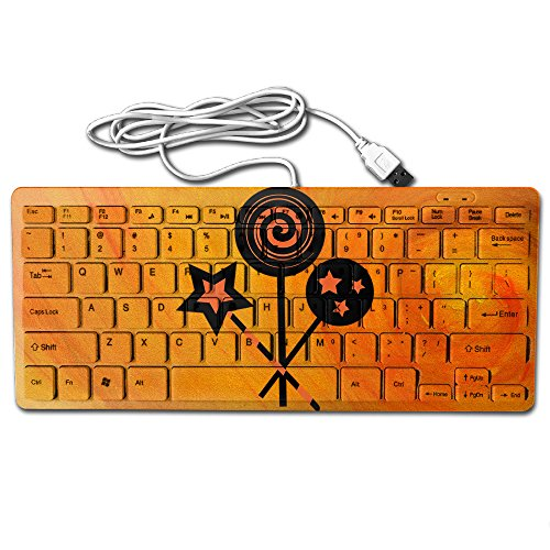 Halloween Peppermint Candies Ultra-Slim 78 Keys Gaming Keyboard Can Apply Or Be Used Universally