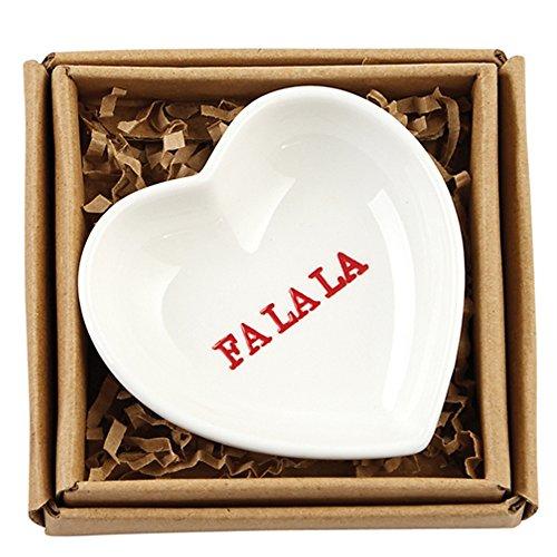 Mud Pie Holiday Heart Plate Jewelry Dish (Fa La La) (Heart Plate Pie)