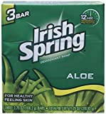 Cheap (PACK OF 45 BARS) Irish Spring ALOE SCENT Bar Soap for Men & Women. 12-HOUR ODOR / DEODORANT PROTECTION! For Healthy Feeling Skin. Great for Hands, Face & Body! (45 Bars, 3.75oz Each Bar)