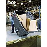 Rubbermaid Commercial FG101300BLA HDPE Box Cart