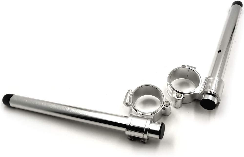 Compatible with 43mm Fork Clip-ons Handle Bar Riser Regular Black CNC Yamaha Kawasaki US SMT