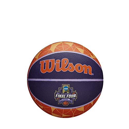 - Wilson Sporting Goods WTB0797IDSM18 NCAA Women's Final Four Mini Rubber Basketball, Multicolor