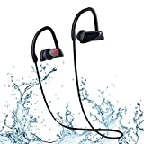 ARCHEER IPX7 Bluetooth Headphones Waterproof Wireless Sports Earbuds In ear Running Earphones with Mic, Stereo Sound Workout Headset for iPod Nano / Touch, iPhone, Samsung, AH38