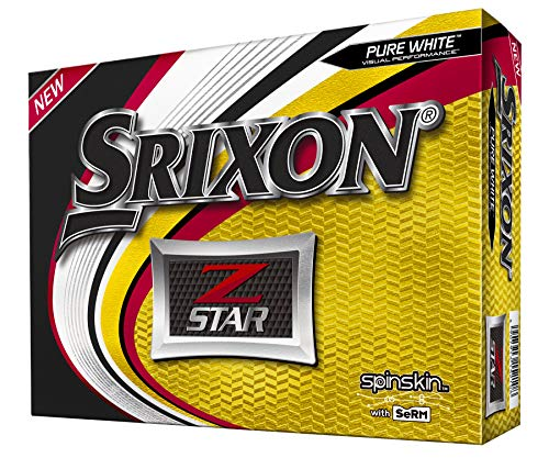 Srixon Z-Star 6 Pure White Golf Balls (One Dozen)