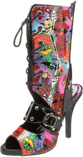 by Demonia Black 103 Women's Zombie Pump Pleaser Patent 7qgHqB