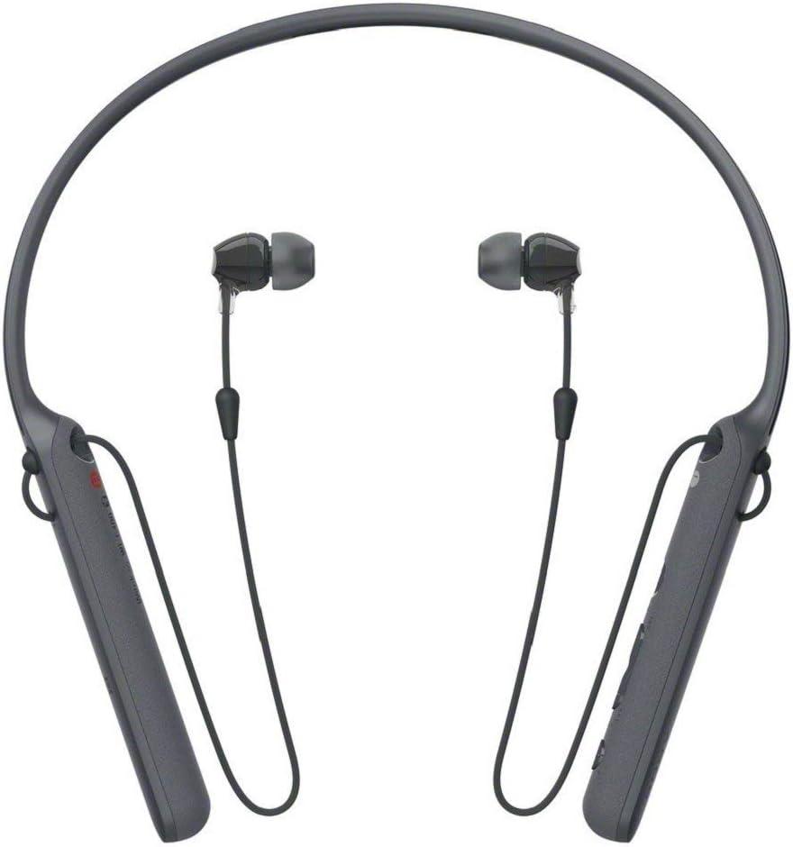 Sony WI-C400 audífonos intraurales inalámbricos con batería de 7,5 Horas de duración (reacondicionado Certificado) Negro