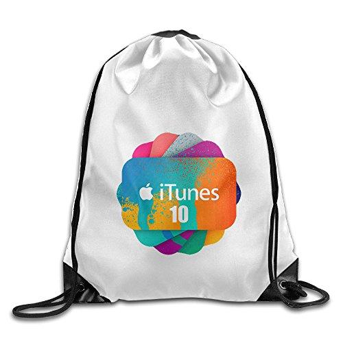Bekey Apple ITunes Drawstring Backpack Sport Bag For Men & Women For Home Travel Storage Use Gym Traveling Shopping Sport Yoga Running
