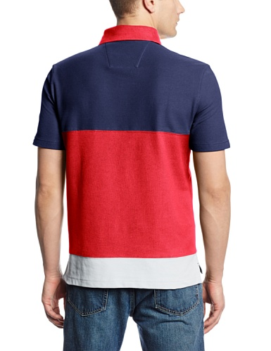Nautica Men's Short Sleeve Color Block Polo