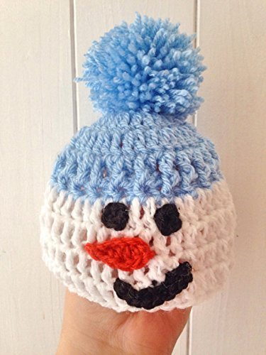 abae0d35d Christmas Snowman Comedy Hat, Crochet Snowman hat in Sizes from ...