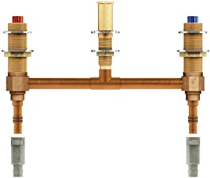 Moen 4798 M-Pact Two Handle Roman Tub Valve with 10-Inch Centers 1/2-Inch PEX and 1/2-Inch Cold Expansion PEX Adapters
