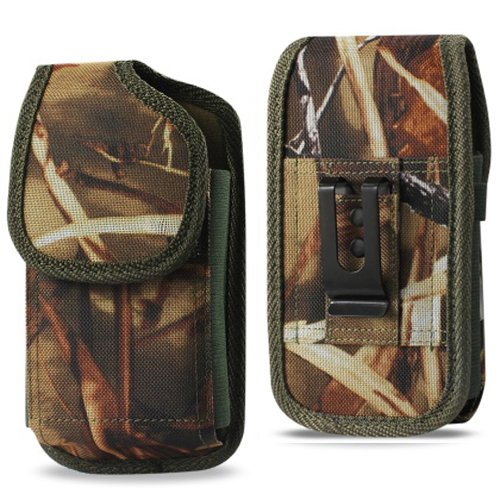 Ballistic Camo Tactical Camouflage Holster Pouch Carry Case + Belt-Clip & Belt Loop, Hunting, Army - 6.5
