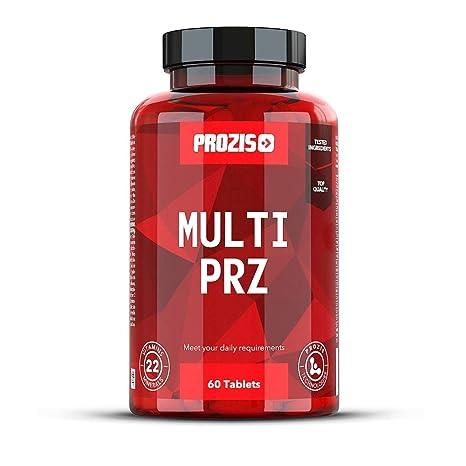 Prozis Multi PRZ - 60 Tabletas - 22 completemento vitamínico - Vitaminas y Minerales - Hombre