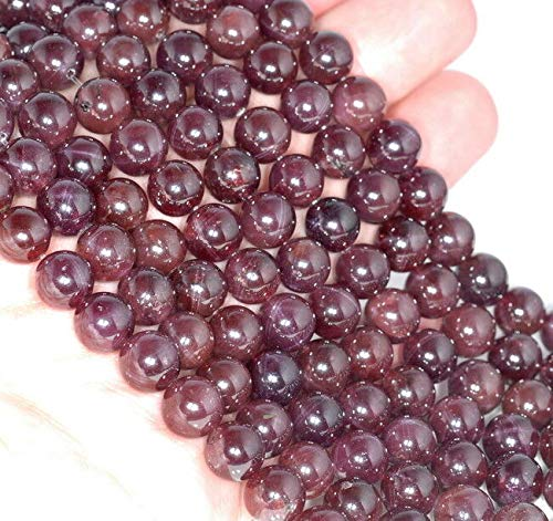 - 6MM CAT Eye RED Garnet Gemstone Grade AA Round Loose Beads 6.5