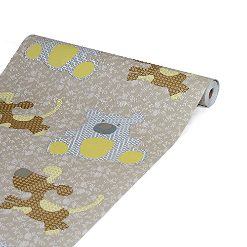 Kids Pattern Decorative Contact Paper Self Adhesive Drawer Shelf Liner Removable Peel and Stick Wallpaper for Shelves Drawer Furniture Wall Decoration 17.7 x78.7 Inches Glow4u GL001