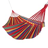 WolfWise Patio Leisure Double 2 Person Cotton Hammocks 450lbs Ultralight ...