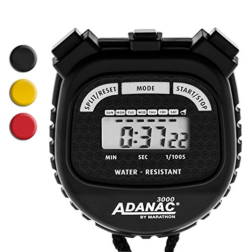 MARATHON Adanac 3000 Digital Stopwatch Timer - Battery (Performance Digital Sport Watch)